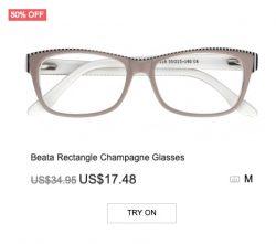 Beata Rectangle Champagne Glasses