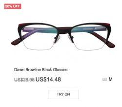 Dawn Brown-line Black Glasses