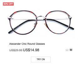 Alexander Chic Round Glasses