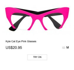 Kyle Cat Eye Pink Glasses