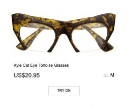 Kyle Cat Eye Tortoise Glasses