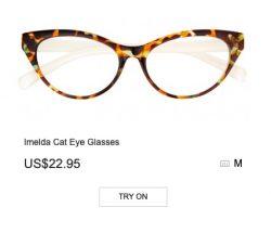 Imelda Cat Eye Glasses