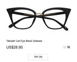 Tallulah Cat Eye Black Glasses