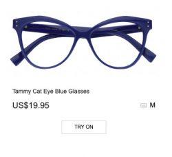 Tammy Cat Eye Blue Glasses