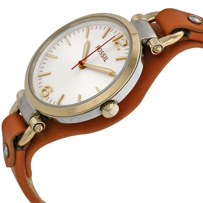 Amazing Fossil Georgia Brown Leather Quartz Watch