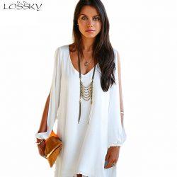 Long sleeve Chiffon Summer V Dress