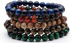 Tiger Eye Buddha Beads Bracelets