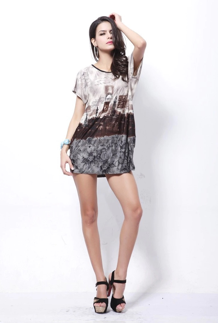 Short Sleeve Long Summer Top T-Shirt