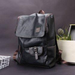 Men's Leather Laptop Backpack Shoulder Bag