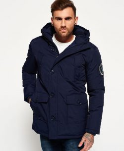Mens Superdry Everest Parka Jacket Navy – Free Shipping