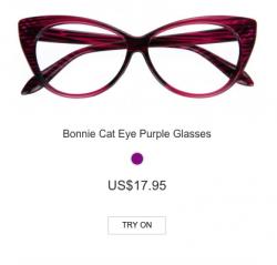 Bonnie Cat Eye Purple Glasses