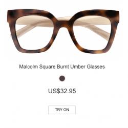 Malcolm Square Burnt Umber Glasses