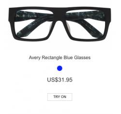 Avery Rectangle Blue Glasses