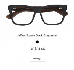 Jefferey Square Black Eyeglasses