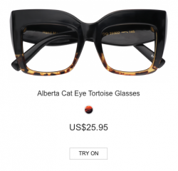 Alberta Cat Eye Tortoise Glasses