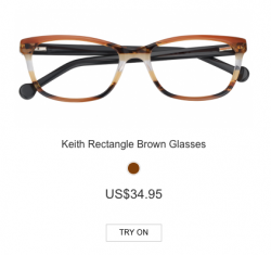 Keith Rectangle Brown Glasses