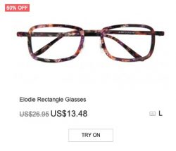 Elodie Rectangle Glasses