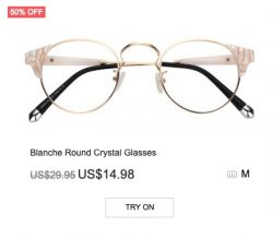Blanche Round Crystal Glasses