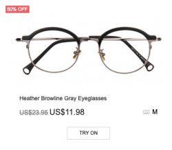 Heather Brown-line Gray Eyeglasses
