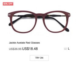 Jackie Acetate Red Glasses