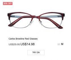 Carlos Brown-line Red Glasses