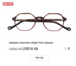 Adelaide Geometric Bright Ping Glasses