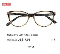 Nathan Oval Light-Tortoise Glasses