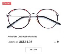 Alexander Chic Round Glasses