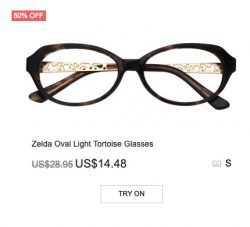 Zelda Oval Light Tortoise Glasses