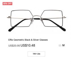 Effie Geometric Black & Silver Glasses