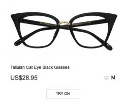 Tallulah Cat Eye Black Glasses