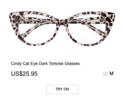 Cindy Cat Eye Dark Tortoise Glasses