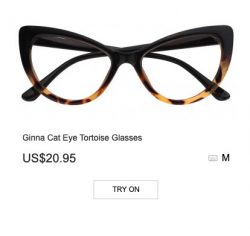 Another amazing pair of glasses from Zeelool – Ginna Cat Eye Tortoise Glasses