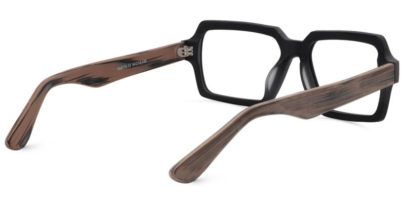 Arthur Geometric Black Glasses