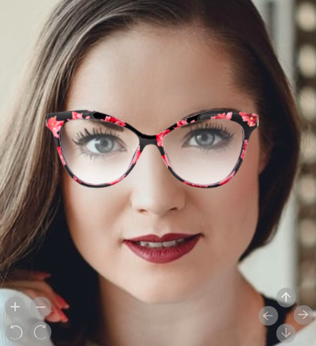 The absolutely amazing floral Metz glasses from Nihao! Try them out online through virtual mirror.